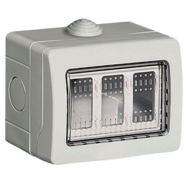 Caja de conexiones el/éctricas resistente a la intemperie caja de proyectos de instrumentos caja de agujeros reservados 1 unidad - 50 x 50 mm Powertool IP55